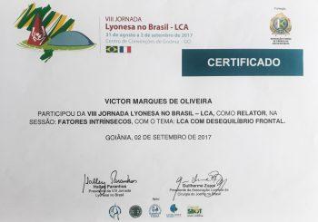 Dr. Victor Participou da VII JORNADA LYONESA NO BRASIL – LCA